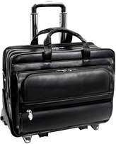 """McKlein McKleinUSA Franklin 15.6"""" Leather Detachable Wheeled Laptop Briefcase"""