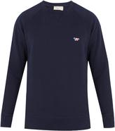 MAISON KITSUNÉ Fox-embroidered cotton sweatshirt