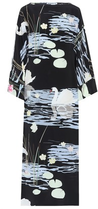 BERNADETTE Printed silk-crApe dress