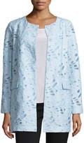 Neiman Marcus Jacquard Burnout Topper Coat