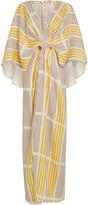 Johanna Ortiz Paradise Striped Linen Maxi Dress