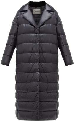 Herno Layered Quilted Down Jacket - Womens - Black
