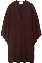 Chloé Oversized Cashmere Midi Dress - Burgundy