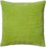 "Rizzy Home Cotton Velvet Decorative Pillow, 20"" x 20"", Green"