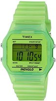Timex T80 Classic – T2 N806 Unisex Watch – Digital Quartz – Green Dial Green Resin Strap