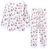 Kissy Kissy White London Landmark Print Pyjamas