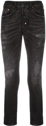 PRPS Paint-Splatter Skinny Jeans