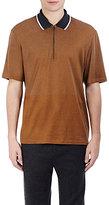Lanvin Men's French Terry Polo Shirt-TAN