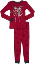 Petit Lem Charleston 2 Piece PJ Set (Toddler/Kid) - Red-5