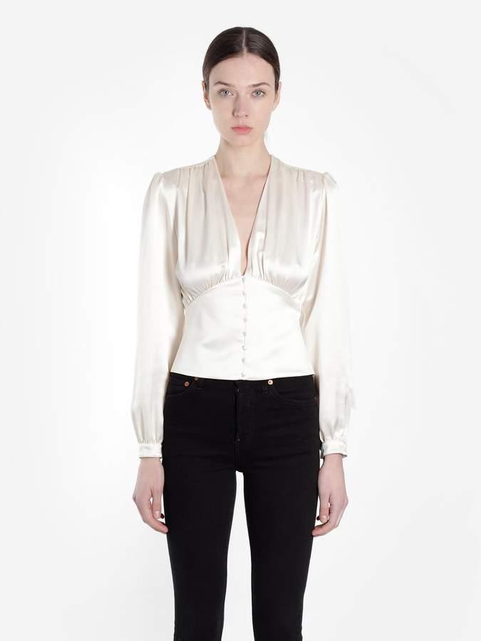 6bc3a091bb58 White Silk Blouse - ShopStyle
