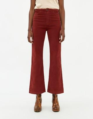 Paloma Wool Women's Milton Cord Pant in Maroon, Size 36 | 100% Cotton