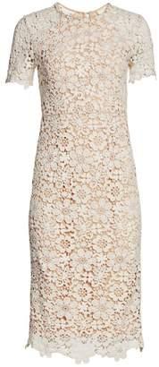 Shoshanna Guipure Lace Midi Dress