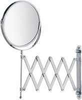 "Wenko 15165100 Wall-Mounted Cosmetic Mirror Telescope Exclusive, 3X Magnification, Steel, 7.5X 15.2X 19.7"", Chrome"