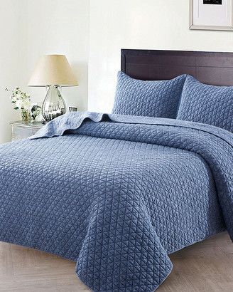 Melange Home Christopher Knight Home Crushed Stone Quilt Set