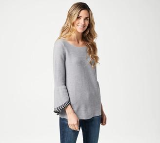 Laurie Felt Cascade Sleeve Sweater