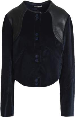 Nina Ricci Leather-trimmed Cotton-blend Corduroy Jacket