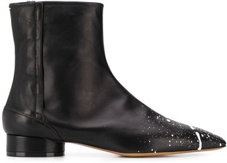 Maison Margiela Paint Splatter Ankle Boots