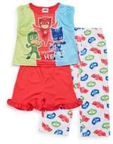 AME Sleepwear Little Girl's PJ Mask Three-Piece Set