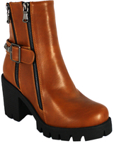 C Label Cognac Clancy Bootie