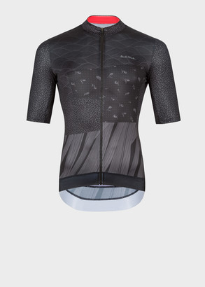 Paul Smith Black Archive Print Cycling Jersey