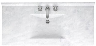 "Swan Surfaces Contour 43"" Single Bathroom Vanity Top Swan Surfaces Top Finish: Ice"