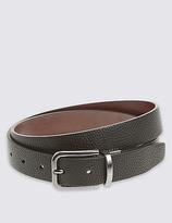 M&s Collection Pebble Grain Formal Reversible Belt