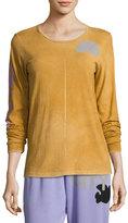 Freecity Sign Goldenline Long-Sleeve Pullover Tee, Orange