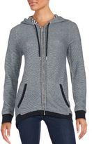 Calvin Klein Micro-Zigzag Knit Hooded Jacket