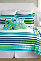 Trina Turk Huntington Stripe Twin/Twin XL Comforter & Sham Set - Turquoise/Green