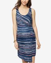 Splendid Maternity Printed Asymmetrical Dress