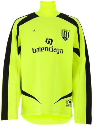 Balenciaga Soccer High-Neck Jumper