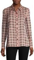 Diane von Furstenberg Women's Plaid Button-Front Shirt