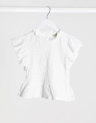 Miss Selfridge pretty t-shirt in white