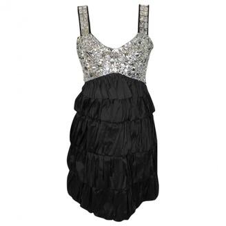Diane von Furstenberg Black Glitter Dresses