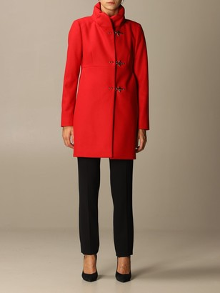 Fay Romantic Coat In Wool And Cashmere Blend Cloth