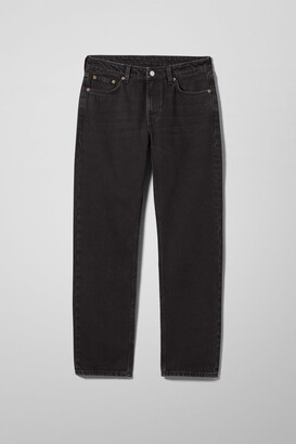 Weekday Dash Mid Straight Jeans - Black