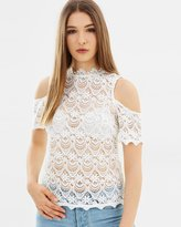 Lipsy Lace Cold Shoulder Top