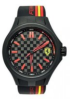 Ferrari Scuderia Farrari Black Dial Polycarbonate Silicone Quartz Men's Watch 830217