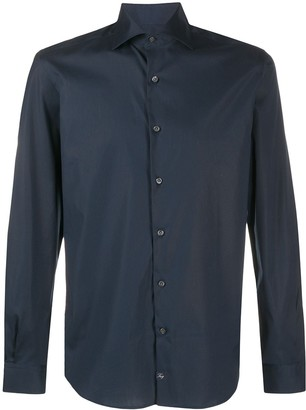 Fay Long-Sleeved Spread-Collar Shirt