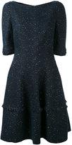 Talbot Runhof speckled mini bell dress - women - Polyamide/Polyester/Acetate/Metallized Polyester - 38