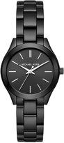 Michael Kors Women's Mini Slim Runway Black Ion-Plated Stainless Steel Bracelet Watch 33mm MK3587