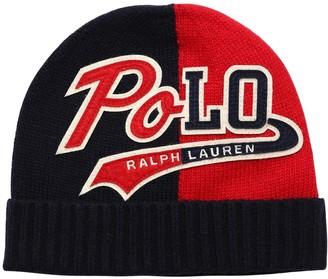 Ralph Lauren Knit Beanie Hat W/ Logo Patch