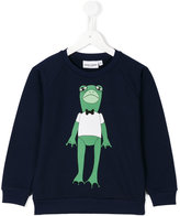 Mini Rodini Frog sweatshirt - kids - Organic Cotton - 9 yrs