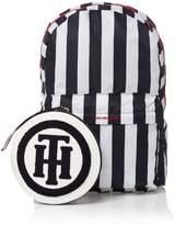 Tommy Hilfiger Foldaway logo stripe backpack
