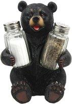 Atlantic Collectibles Cuddling Black Teddy Bear Salt Pepper Shakers Holder Figurine