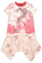 Roberto Cavalli Toddler's, Little Girl's & Girl's Asymmetrical Hem Dress