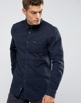 Jack Wills Salcombe Gingham Shirt In Regular Fit In Flannel Black/Navy
