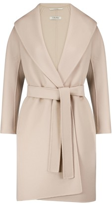 S Max Mara Messi belted virgin wool coat
