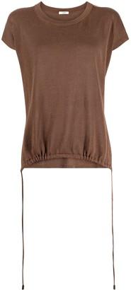 Peserico tie-hem short-sleeve T-shirt