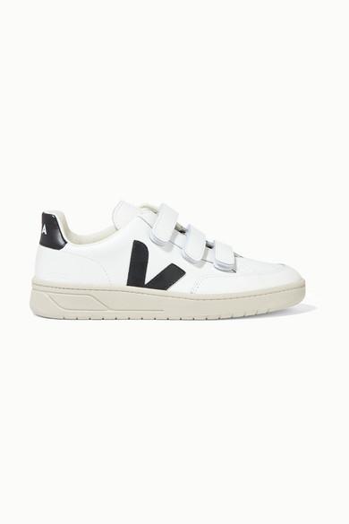 Veja + Net Sustain V-lock Leather Sneakers - White
